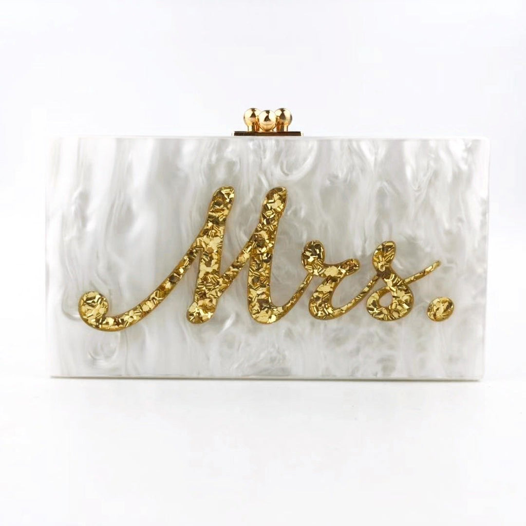Acrylic Mrs. Bag (Gold) - Bayshore Babe