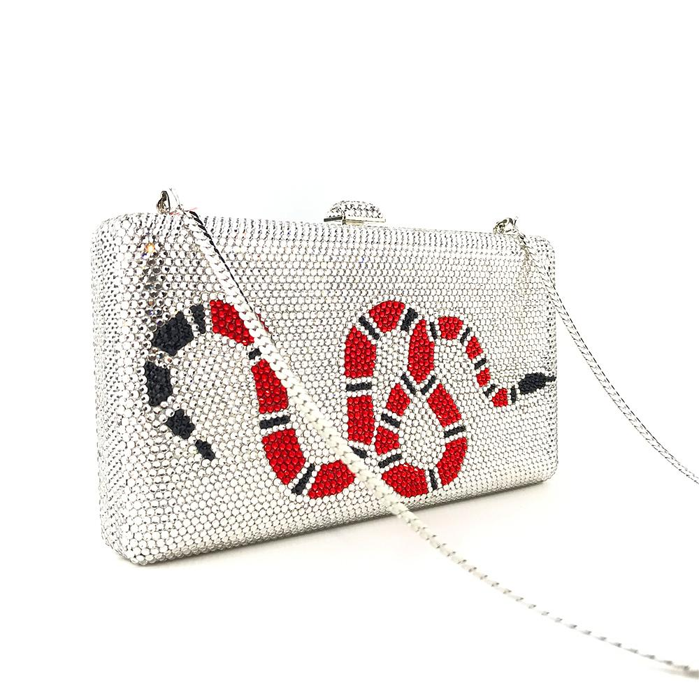 Crystal Red Snake Bag - Bayshore Babe