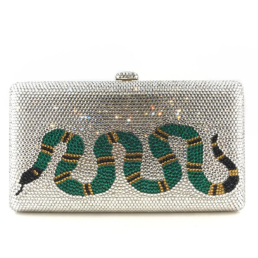 Crystal Green Snake Bag - Bayshore Babe