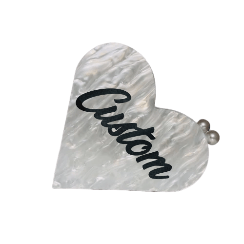 Customized Acrylic Heart Handbag - Bayshore Babe