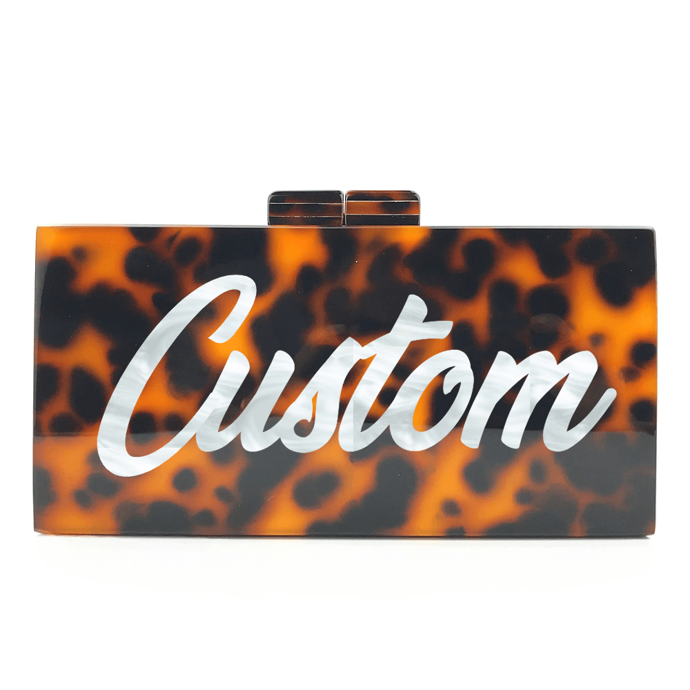 Customized Leopard Acrylic Handbag - Bayshore Babe