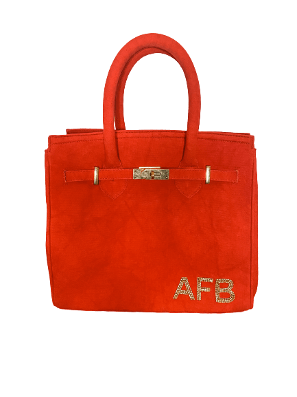 The Tampa Tote Red Canvas - Bayshore Babe