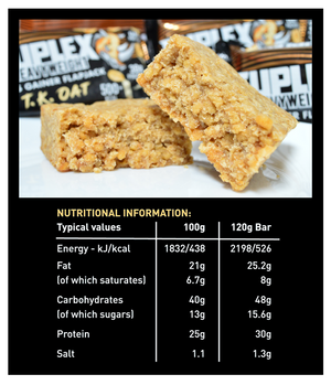 12x Variety Box - Suplex HEAVYWEIGHT Mass Gainer Flapjack Box, 500+ Calories, 30g Protein, Vegan Friendly, 120g - Suplex Nutrition UK