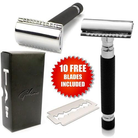 Old School Double Edge Razor with FREE Blades