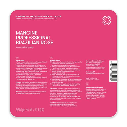 Mancine Brazilian Rose Hot Wax 500gm