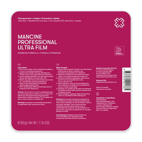 Mancine Ultrafilm Pomegranate & Jojoba Hot Wax 500 gm