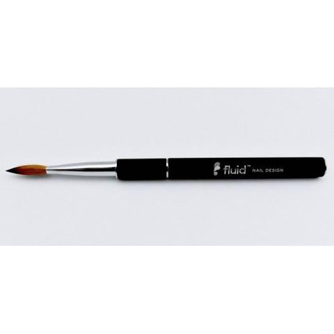 Fluid Oval No.10 Black Acrylic Brush