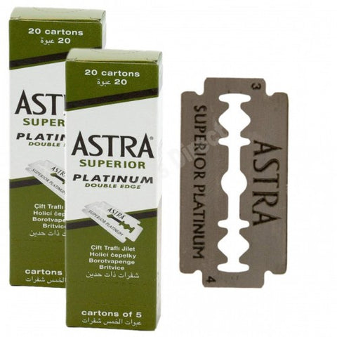 Astra Superior Platinum Double Edge Blades 100pack