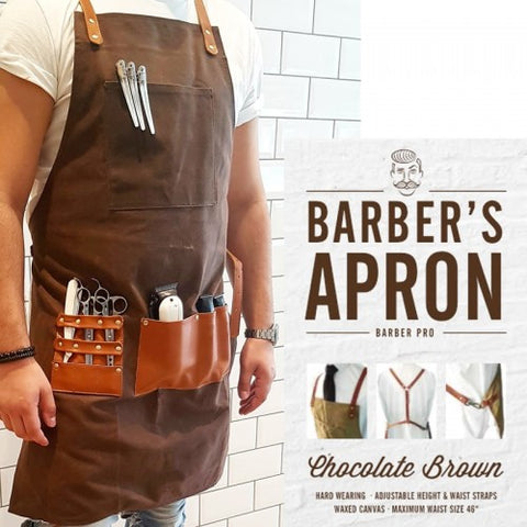 Barber Pro Barber's Apron Denim Blue