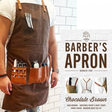 Barber Pro Barber's Apron Chocolate Brown