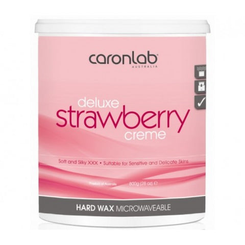 Caron Deluxe Strawberry Creme Hard Wax 800 gm