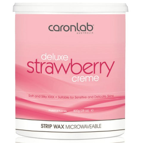 Caron Deluxe Strawberry Creme Strip Wax 800 gm