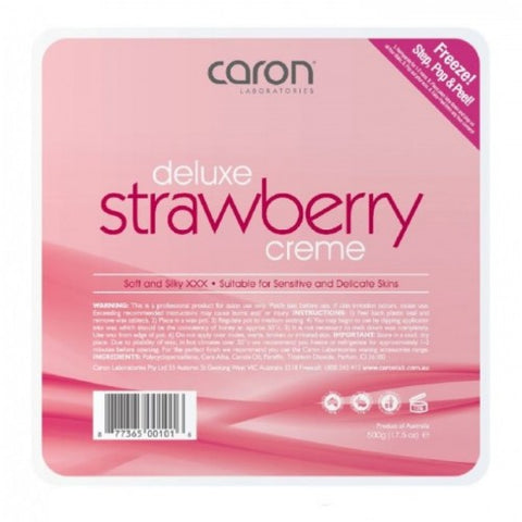 Caron Deluxe Strawbery Creme Hard Wax 500 gm