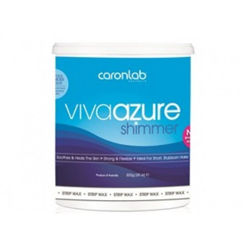 Caron Viva Azure Shimmer Strip Wax 800 gm