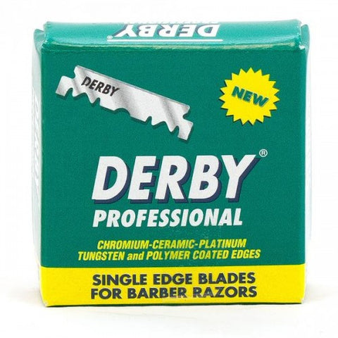 Derby Professional Stainless Single Edge Blades 100pack