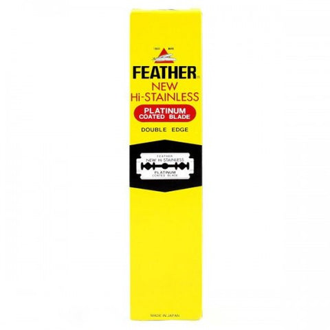 Feather Hi-Stainless Platinum Coated Blade Double Edge 200 pack