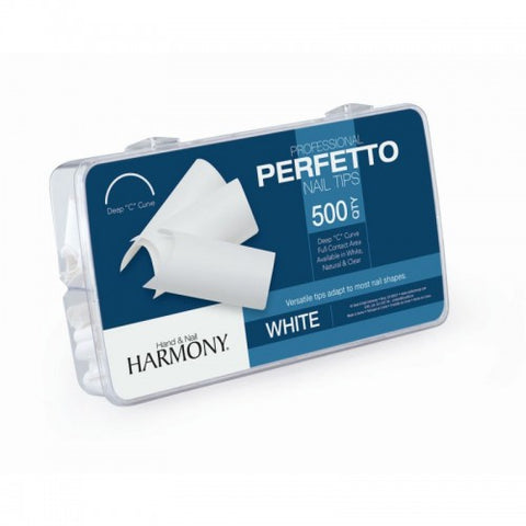 Harmony Perfetto Nail Tips White 500 Pcs