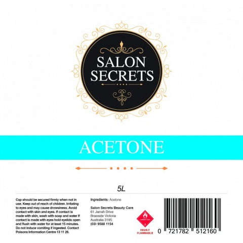 Salon Secrets Acetone 5 Litre