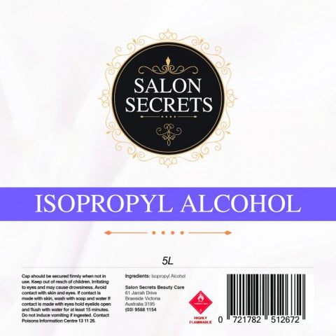 Salon Secrets Isopropyl Alcohol 5 Litre