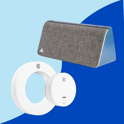 Livy Protect + Kevin // Presence simulation, motion alarm, smoke alarm, air monitoring, bluetooth speaker, lamp