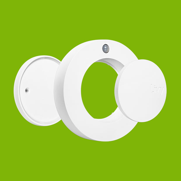 Livy Protect with Mounting Kit Set of 2 - Smoke Detector Recognition, Motion Alarm, Air Quality, Temperature, Humidity
