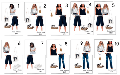 Minimalistic French Summer Capsule - 11 pieces and 25 Outfits!