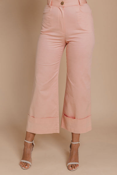 Italian High-Rise Flare Pants Bynes New York