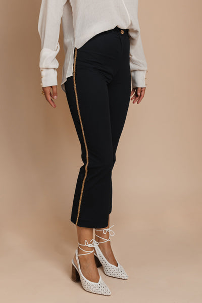 Italian Navy Pants with gold details bynes new york