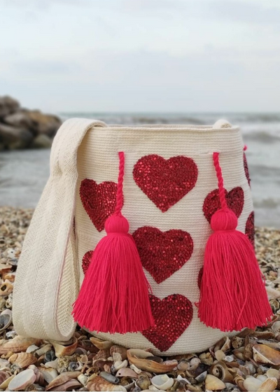 Valentine Hand Knitted Colombian Bucket Bag Bynes New York Mochilas