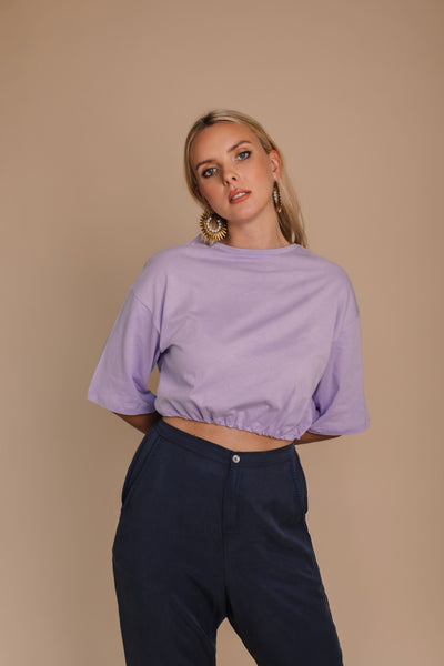 Lavender Organic Crop Top bynes new york