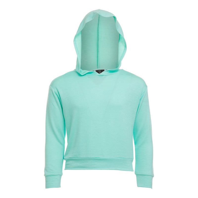 Kids will love this hoodie top made of a soft, comfortable blended fabric with a cool hood for when they want to change it up.