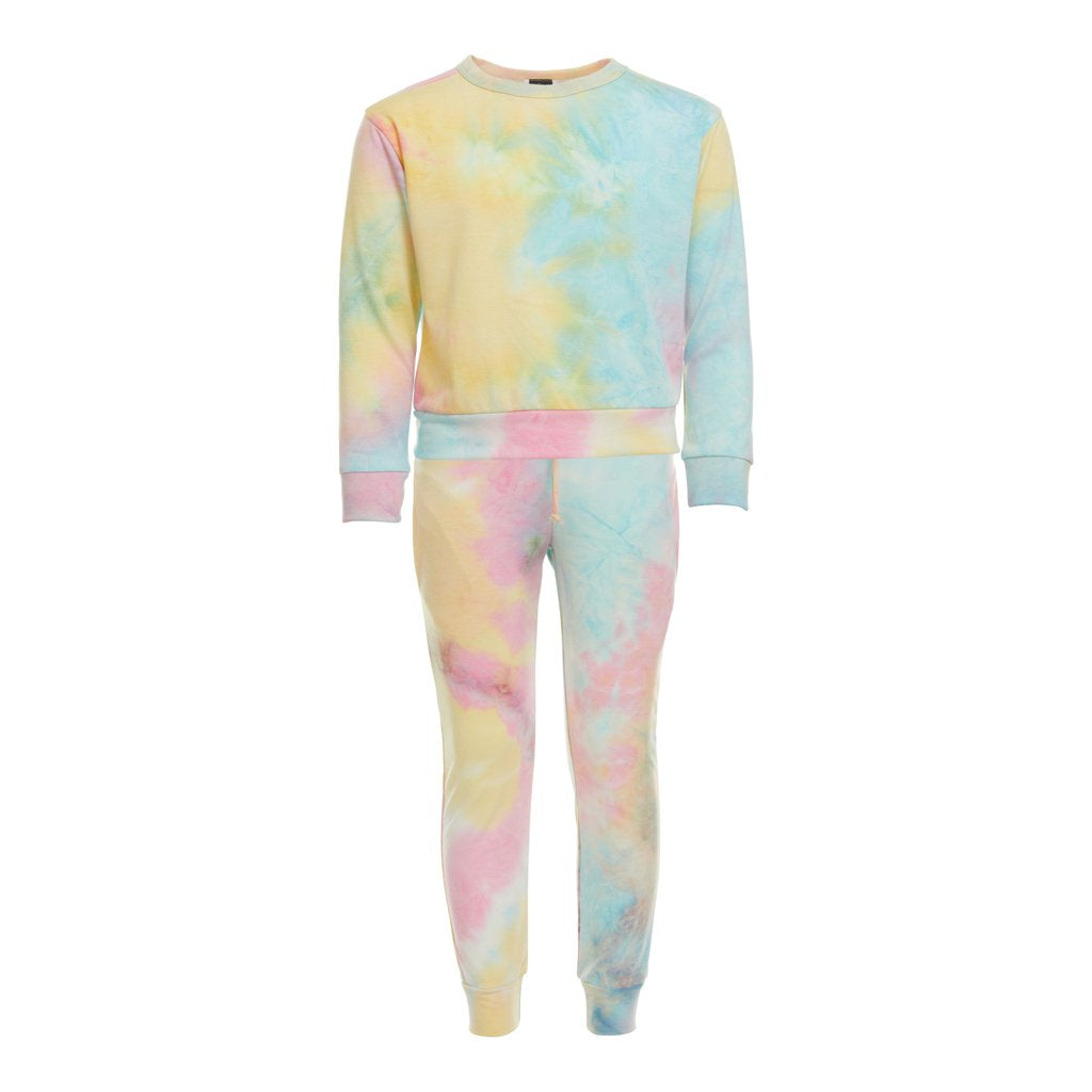 Kids will love this relaxed sweat set that incliudes a crew neck sweat shirt and sweat pants with pockets, drawstring and elastic waist made of a soft, comfortable blended fabric. Mix and match with solid colors to change it up.