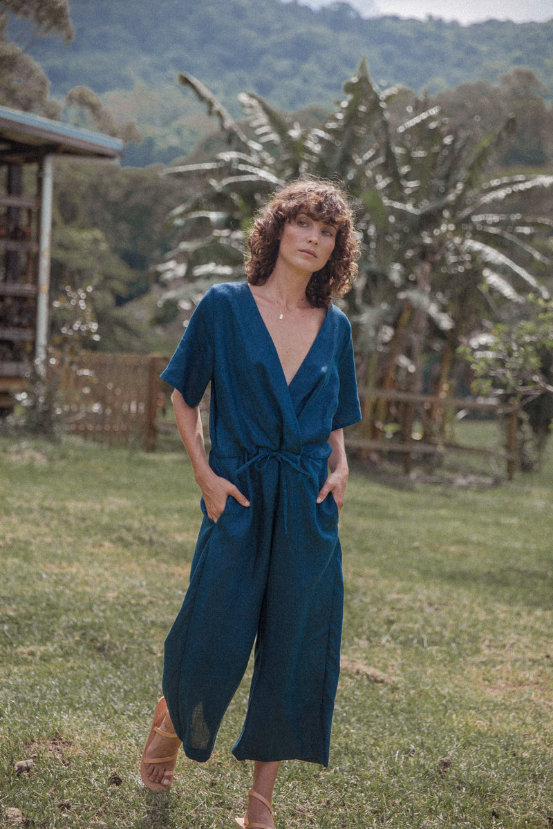 linen jumpsuit, z the label, tallow jumpsuit, sustainable clothing australia, ethical clothing australia