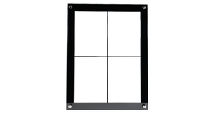 4-Card Frame 2x2 (Thin Separators)