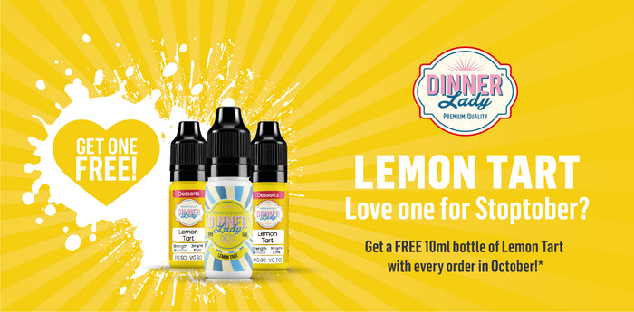 Stoptober Special - Free Lemon Tart 10ml with all Orders
