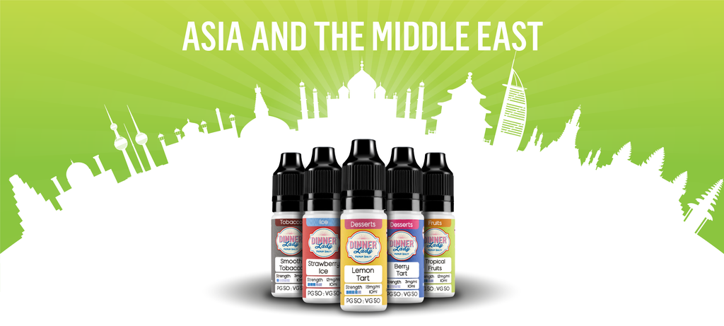 Vape Dinner Lady Travelling to Asia and the Middle East with E-Liquids