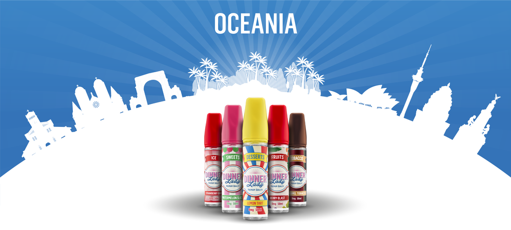 Vape Dinner Lady Travelling to Oceania with E-Liquids