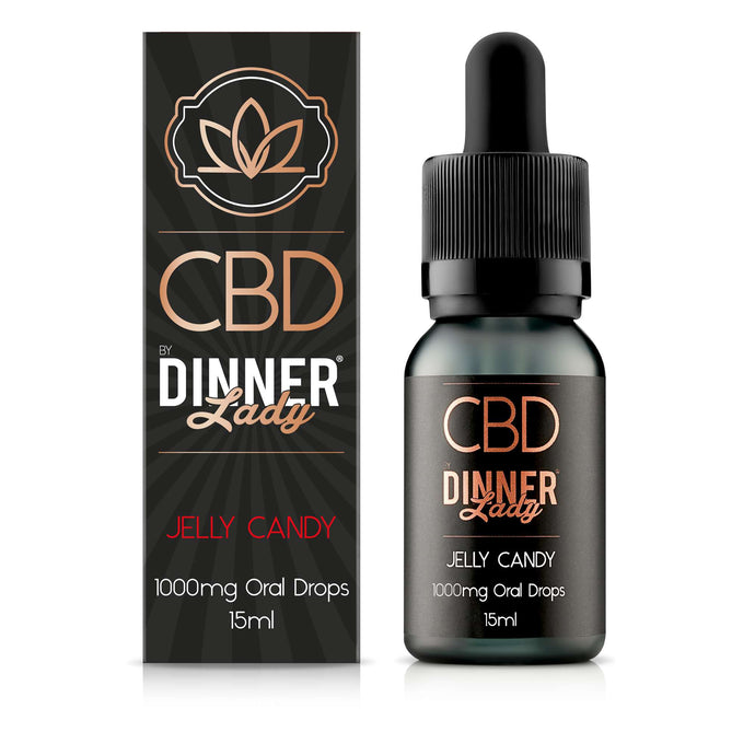 Dinner Lady CBD Jelly Candy oral drops / tinctures - 15ml - 1000mg