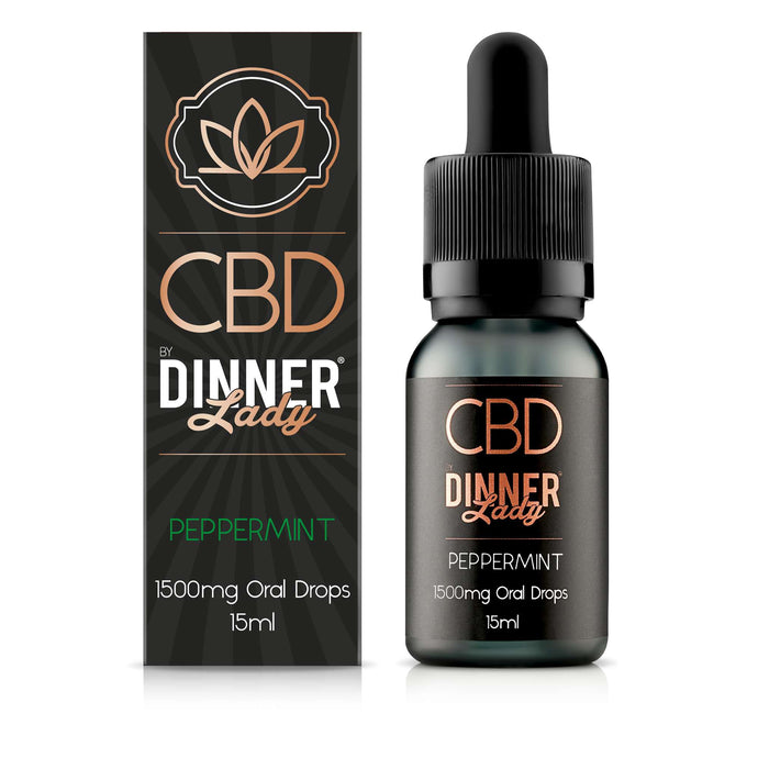 Dinner Lady CBD Peppermint oral drops / tinctures - 15ml - 1500mg