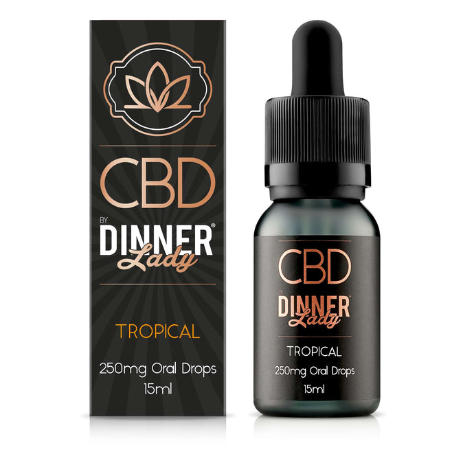 Dinner Lady CBD Tropical oral drops / tinctures - 15ml - 250mg