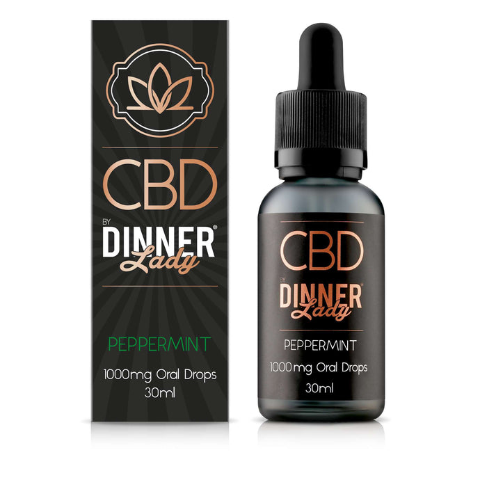 Dinner Lady CBD Peppermint oral drops / tinctures - 30ml - 1000mg