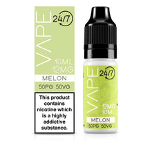 Load image into Gallery viewer, Vape 24/7 Melon 50:50 10ml E-Liquid