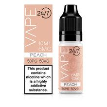 Load image into Gallery viewer, Vape 24/7 Peach 50:50 10ml E-Liquid