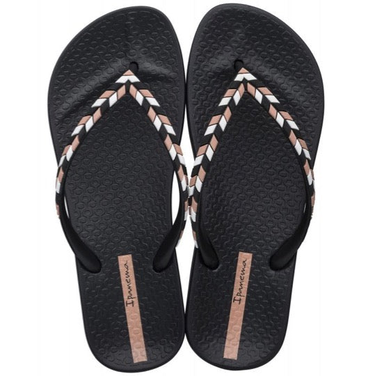 ipanema lovely black dames slippers