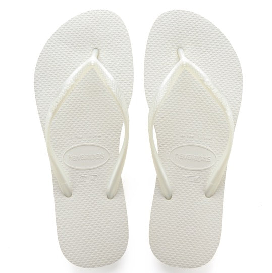 havaianas slim white dames slippers