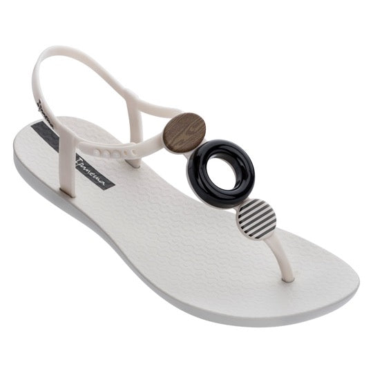 ipanema class modern beige black dames slippers