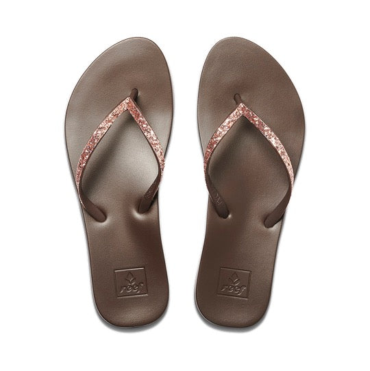 Reef cushion bounce stargzer rose gold dames slippers
