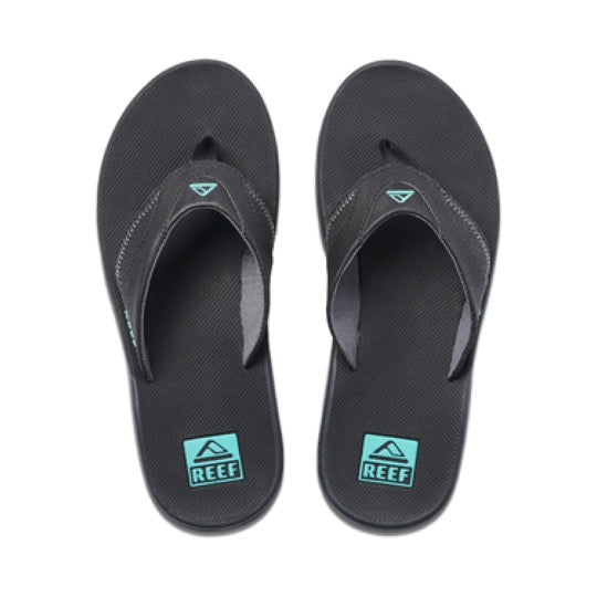 reef fanning neon blue slippers