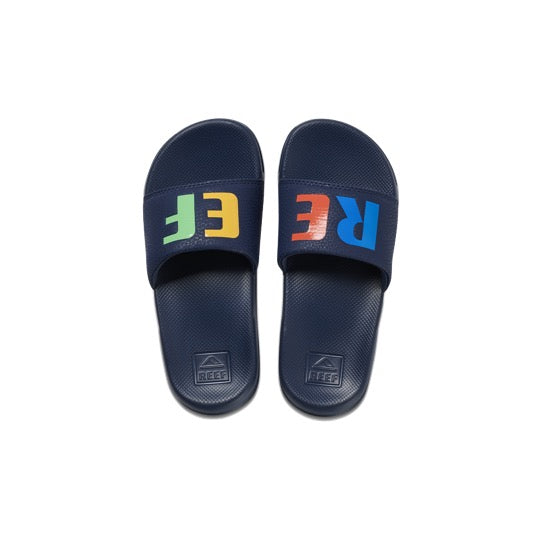 reef kids one slide multi badslippers