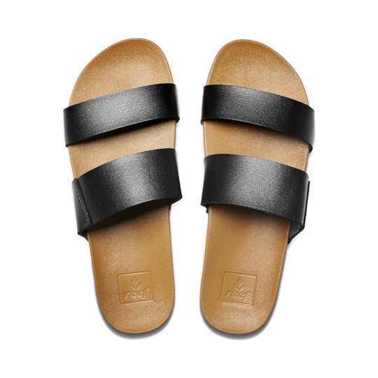Reef Vista black natural dames slides